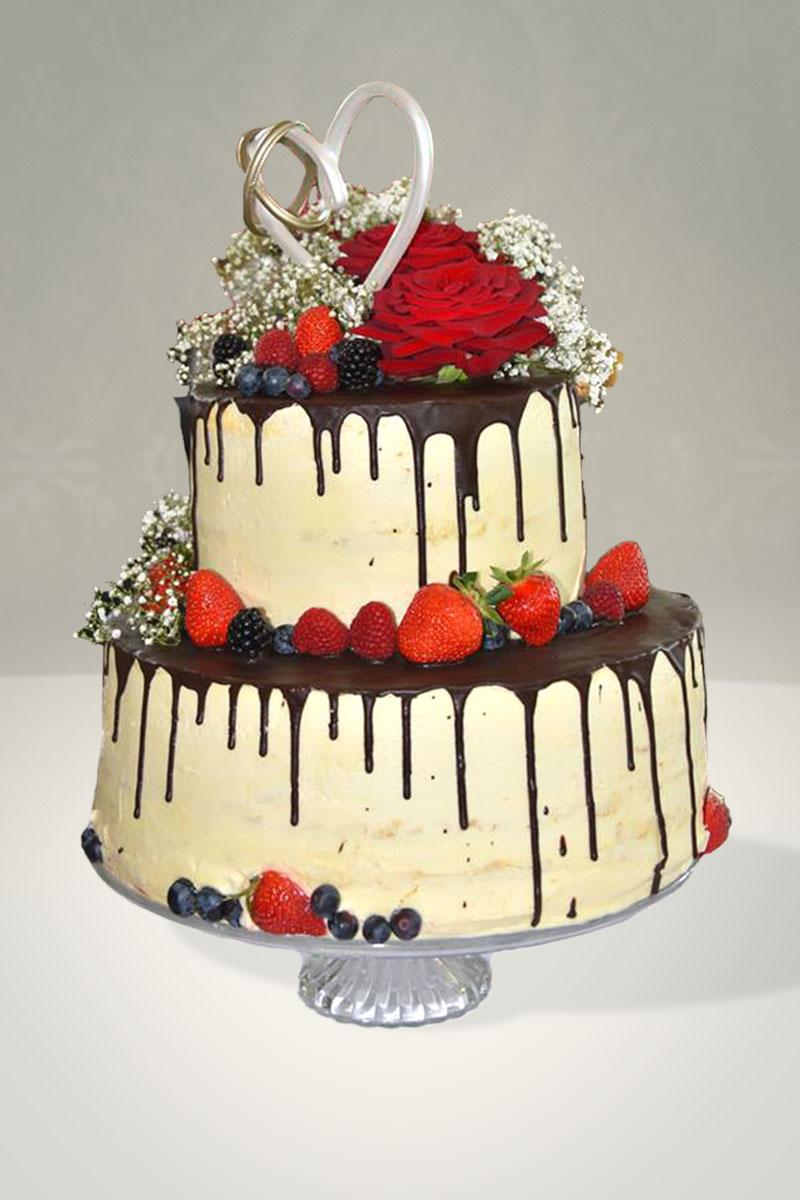 Naked Cake Mit Schoko Drip Domori